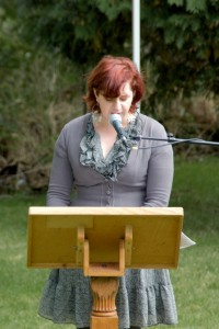 Reading at the Eden Mills Literary Festival, 2010 Photo by Karen Wood