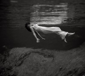 Image Source: A model floating in the water at Weeki Wachee Spring, Florida. The image by fashion photographer Toni Frissell was published in Harper's Bazaar in December 1947